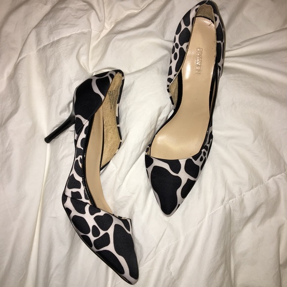 Expression Shoes - Expression Zebra Print Kitten Heels